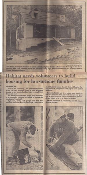 Habitat for Humanity Article
